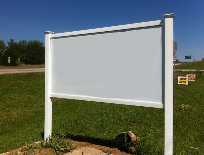 PVC POST & RAIL SIGN FRAME KITS