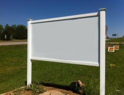 Pvc Post Amp Rail Sign Frame Kits