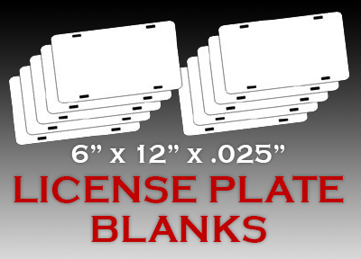 6 Quot X 12 Quot X 025 White License Plate Blank